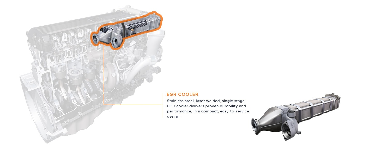 Stainless steel, laser welded, single stage EGR cooler delivers proven durability and performance, in a compact, easy-to-service design.